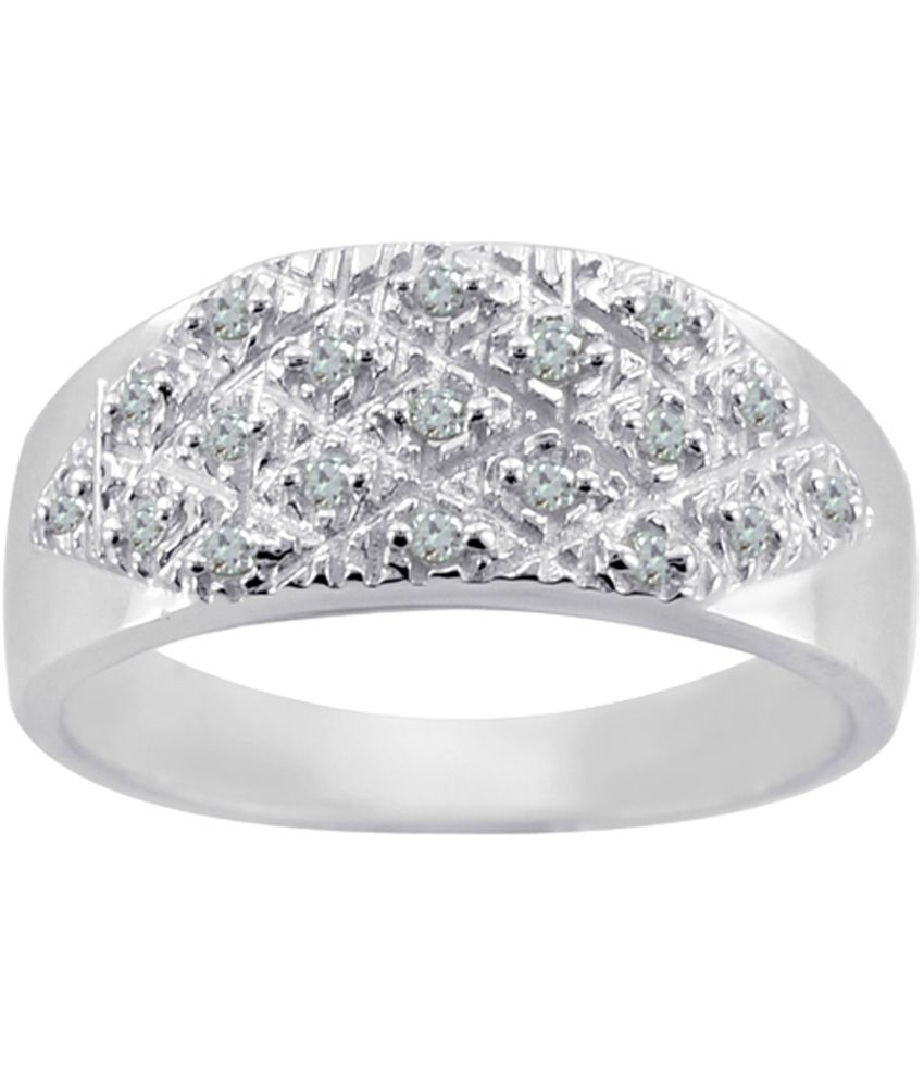 Arsh Crown Sky Dominion 0.46 Cwt 925 Sterling Silver Ring With Gemstones Cubic Zirconia
