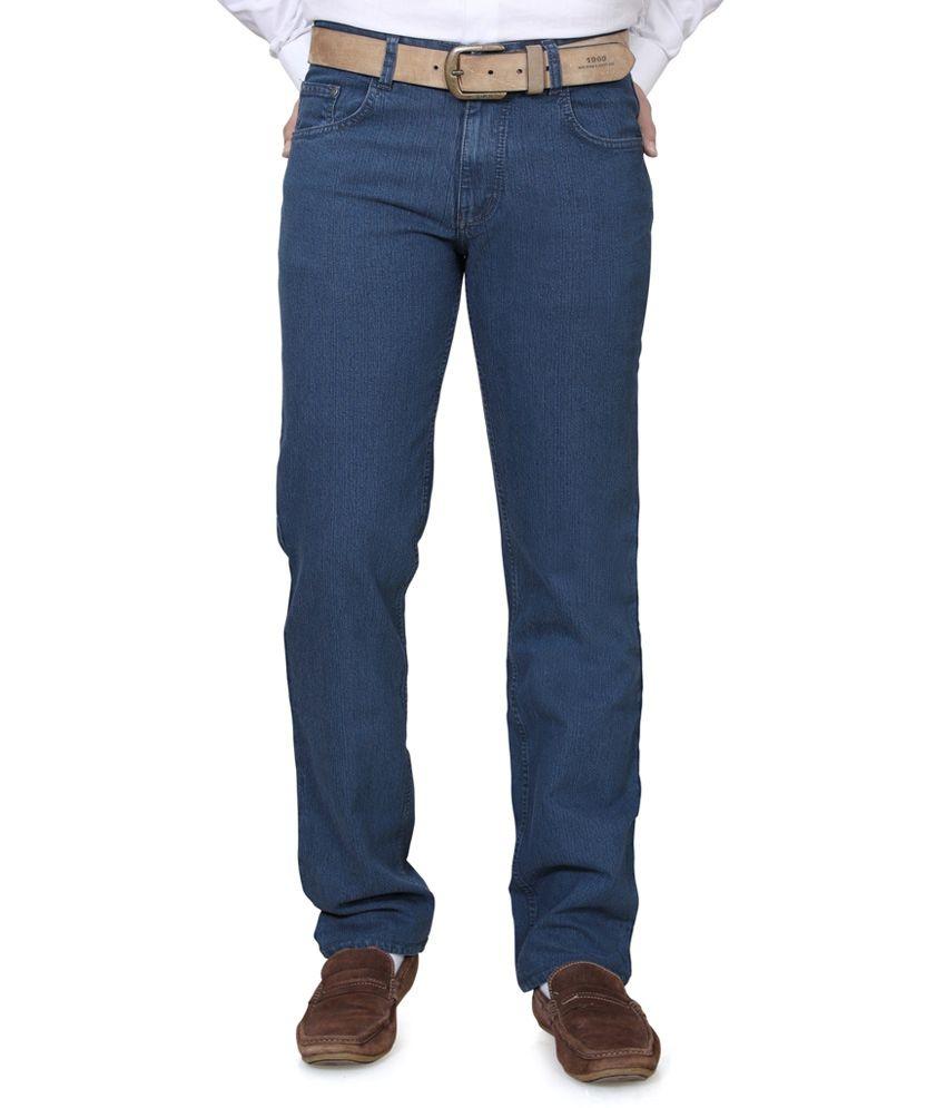 Klix Jeans Purple Regular Fit Jeans