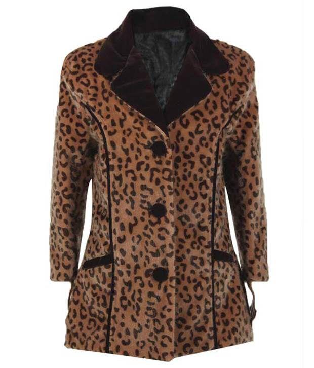 Purple Nasty By Ritu Wears Brown Single Breasted Coat For Girls
