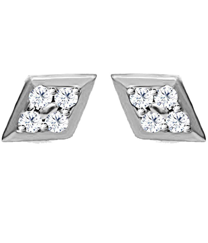 Jacknjewel 0.16 Carat Diamond Airy Platinum Stud Earrings