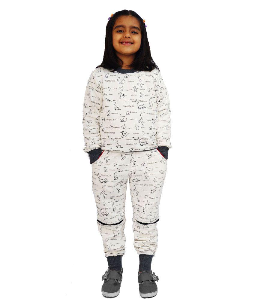 Naughty Ninos Printed Sweatshirt And Pyjama Set