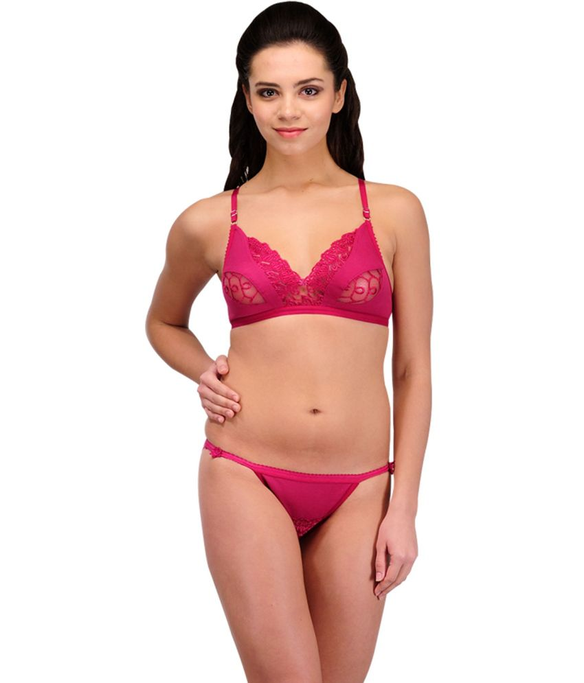 13ec14f5b Buy Urbaano Purple Lace Bra   Panty Sets Online at Best Prices in India -  Snapdeal
