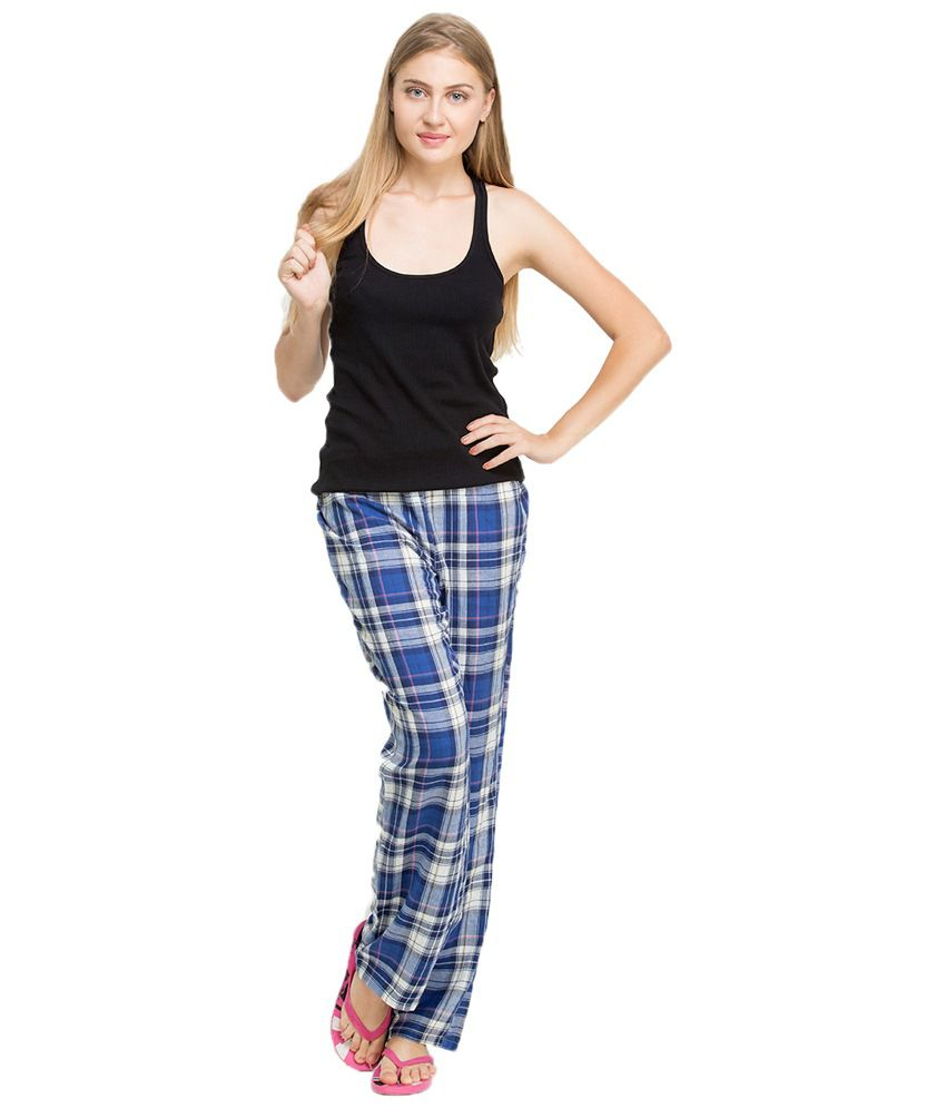 Buy Oxolloxo Blue Cotton Pajamas Online at Best Prices in India ...