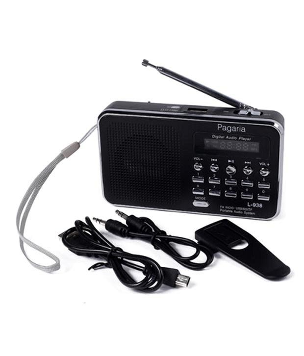 Pagaria Digital Usb Fm Radio Player Black