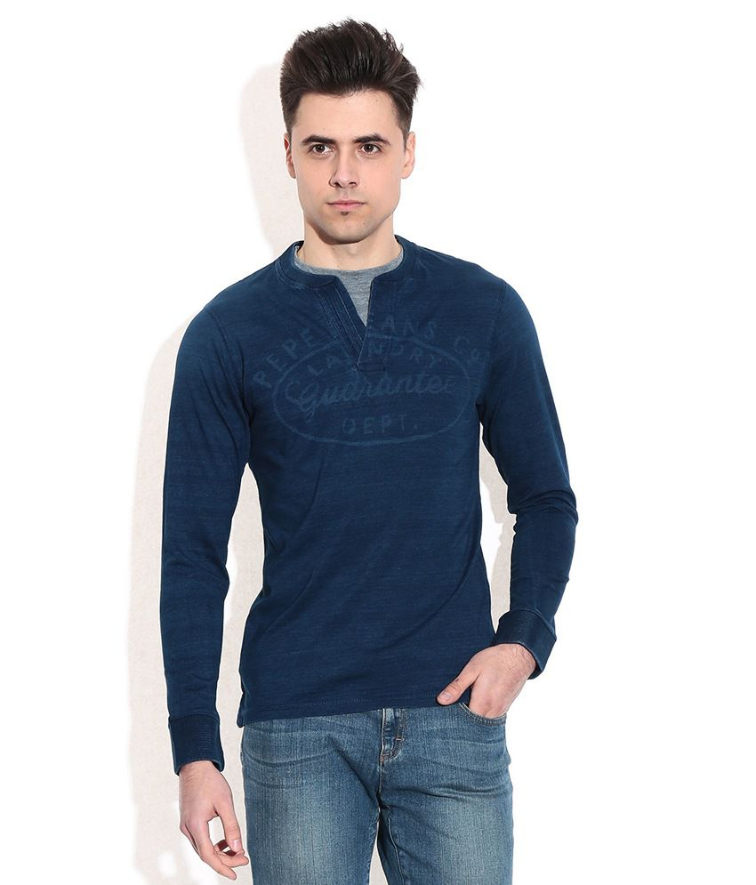 Pepe Jeans Blue Cotton T-shirt