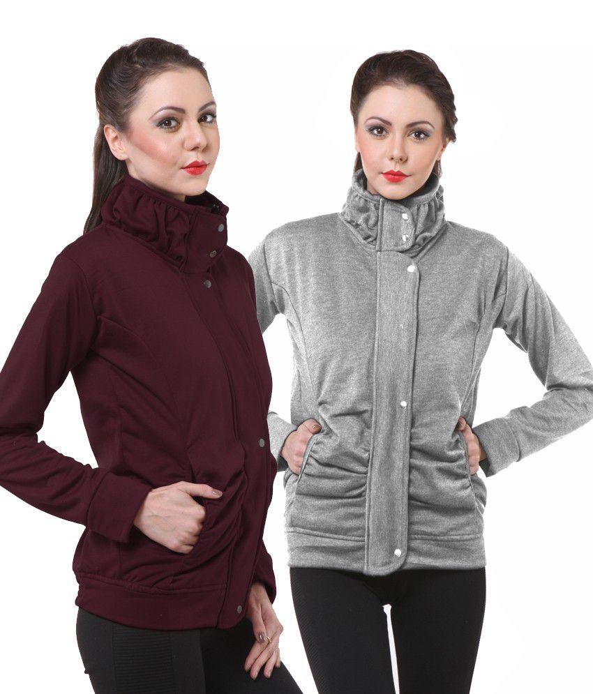 Purys Multi Color Fleece Zippered