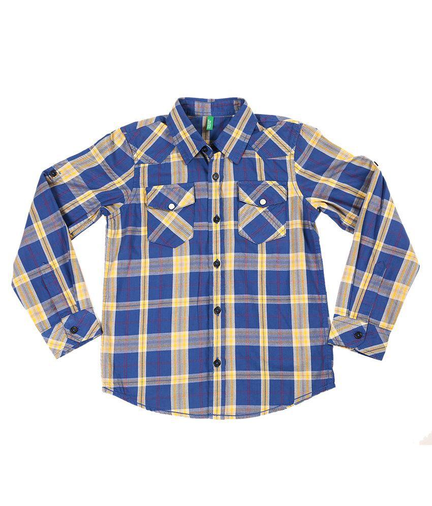 United Colors Of Benetton Multi Color Cotton Shirts