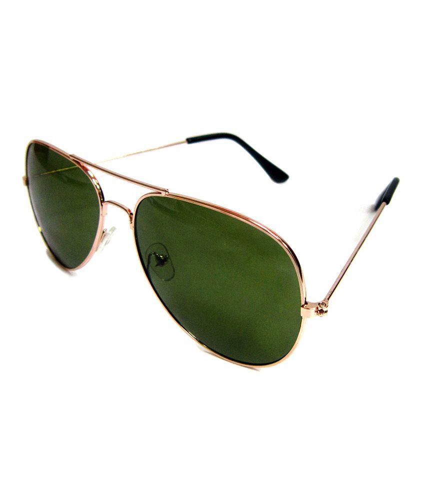 Nakshatra Green Lens Round Frame Casual Sunglass For Men