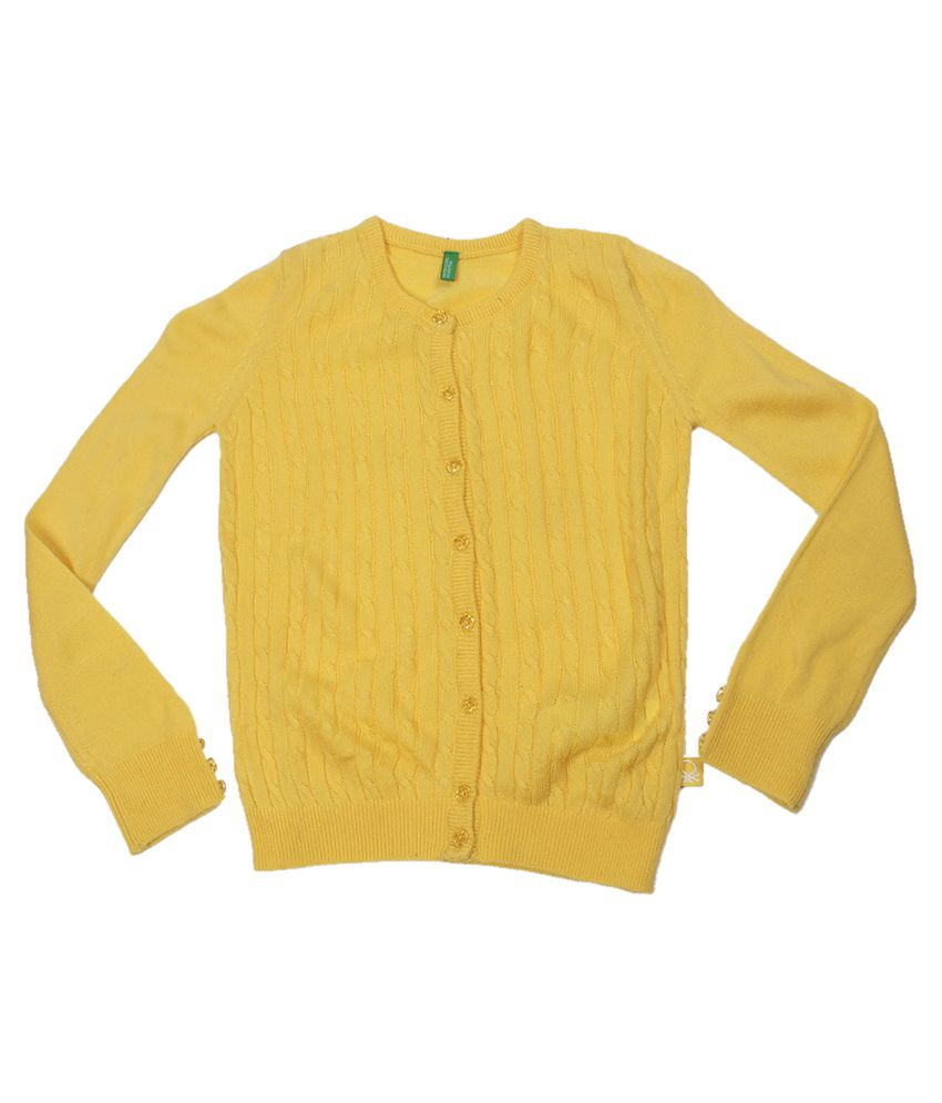 United Colors Of Benetton Yellow Cardigan - Buy United Colors Of ...
