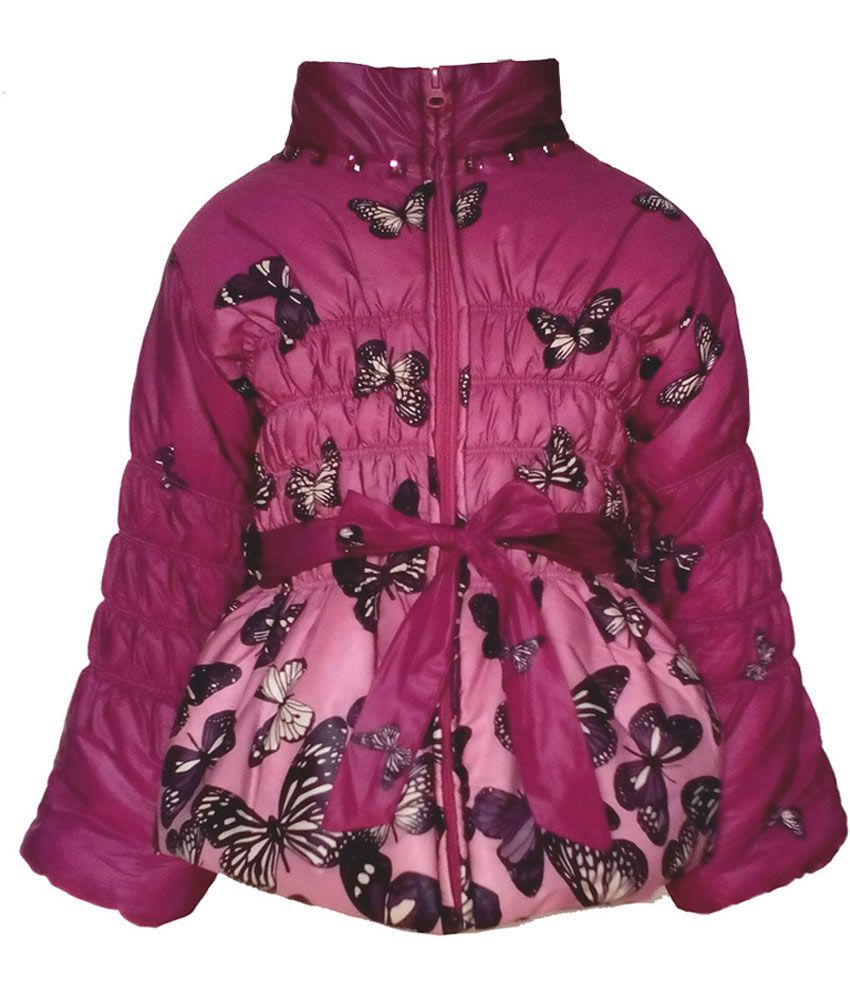 Cutecumber Purple Synthetic Full Sleeve Girls Jacket