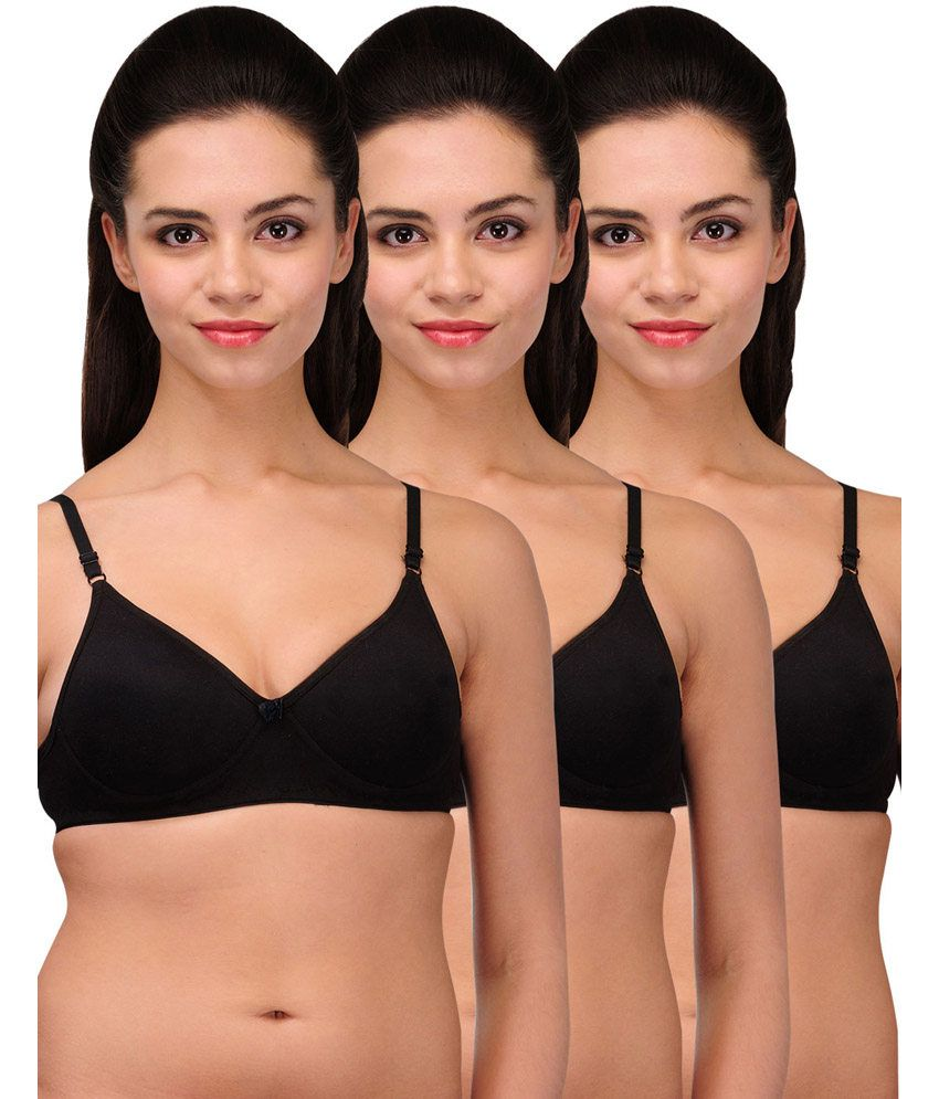 Urbaano Black Cotton Bra