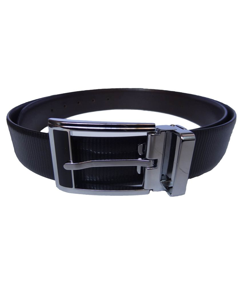 eXcorio Black Brown Spanish Leather Reversible Belt