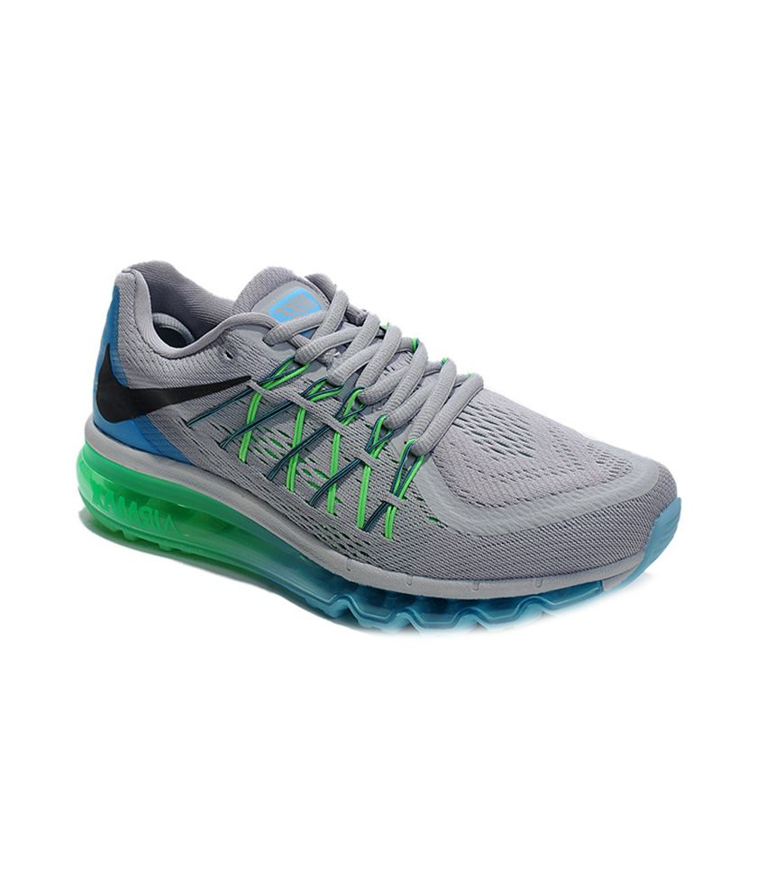 promo code f7261 10ae5 Nike Airmax 2015 Grey ,blue And Green Men Running Sports Shoes - Buy Nike  Airmax 2015 Grey ,blue And Green Men Running Sports Shoes Online at Best  Prices in ...