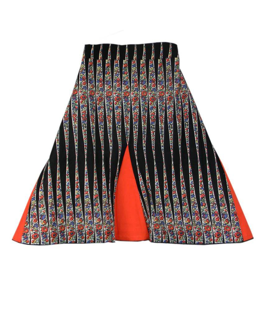 Ssmitn Black Printed Skirt