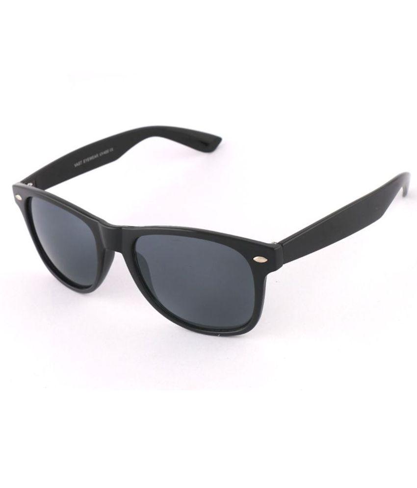 Vast Vastm42107black Medium Unisex Wayfarer Sunglasses