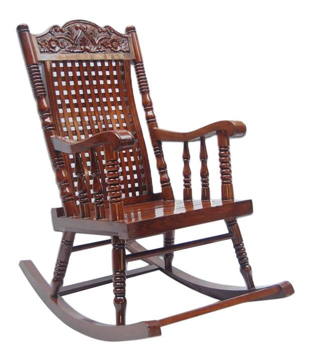 Solid Wood Rocking Chair Buy Online At Best Price In