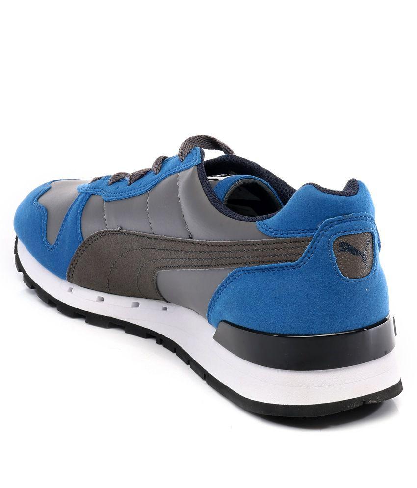 big sale 70cec 43670 ... Puma TX-3 Gray And Blue Sport Shoes ...