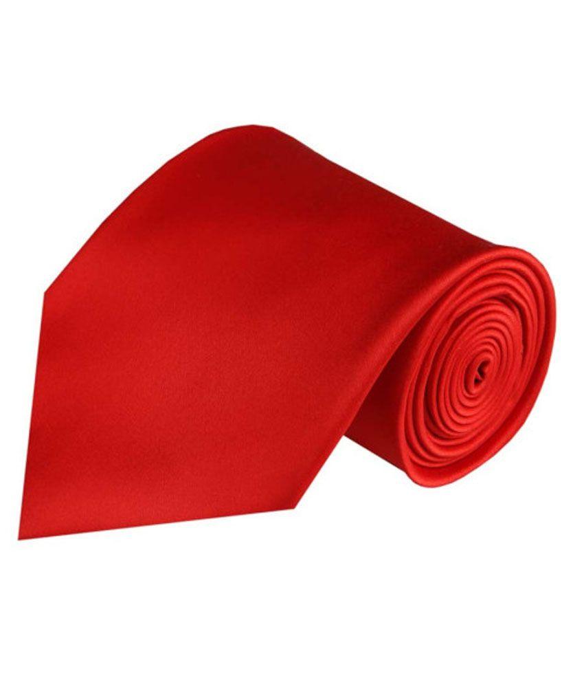 Wintex Plain Formal Red Regular Tie