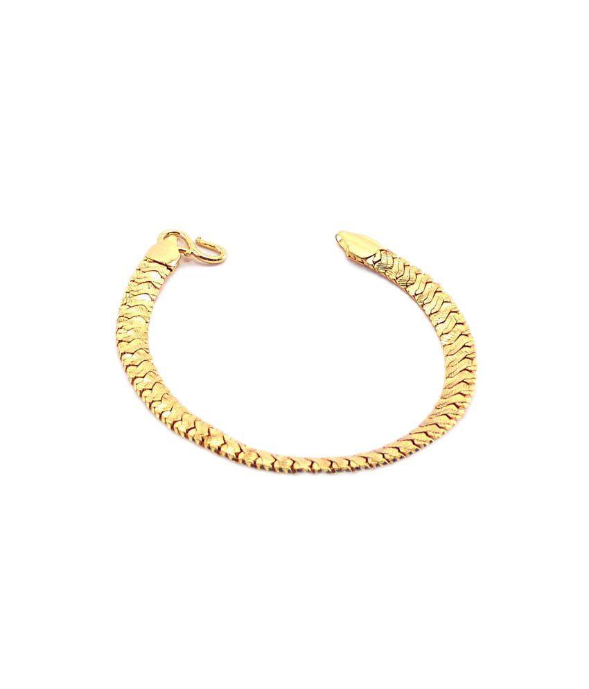 Amisha Jewellers Paisley Golden Men's Bracelet