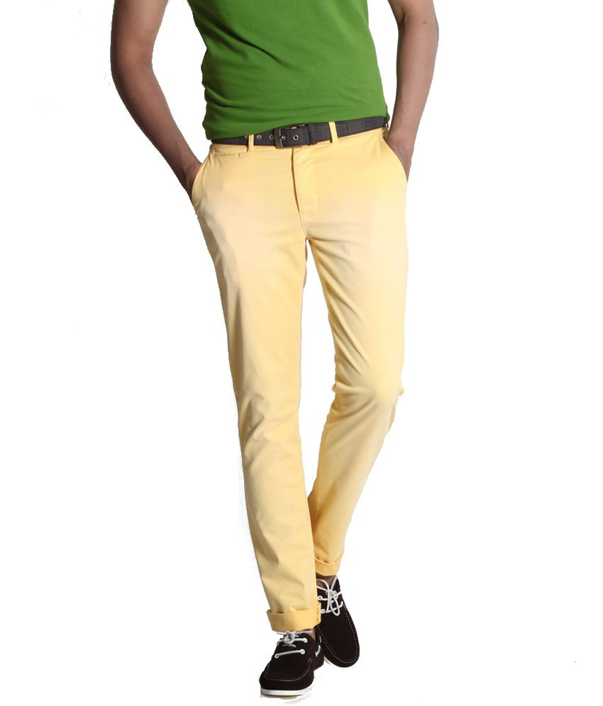 Basics Life Yellow Slim Casuals