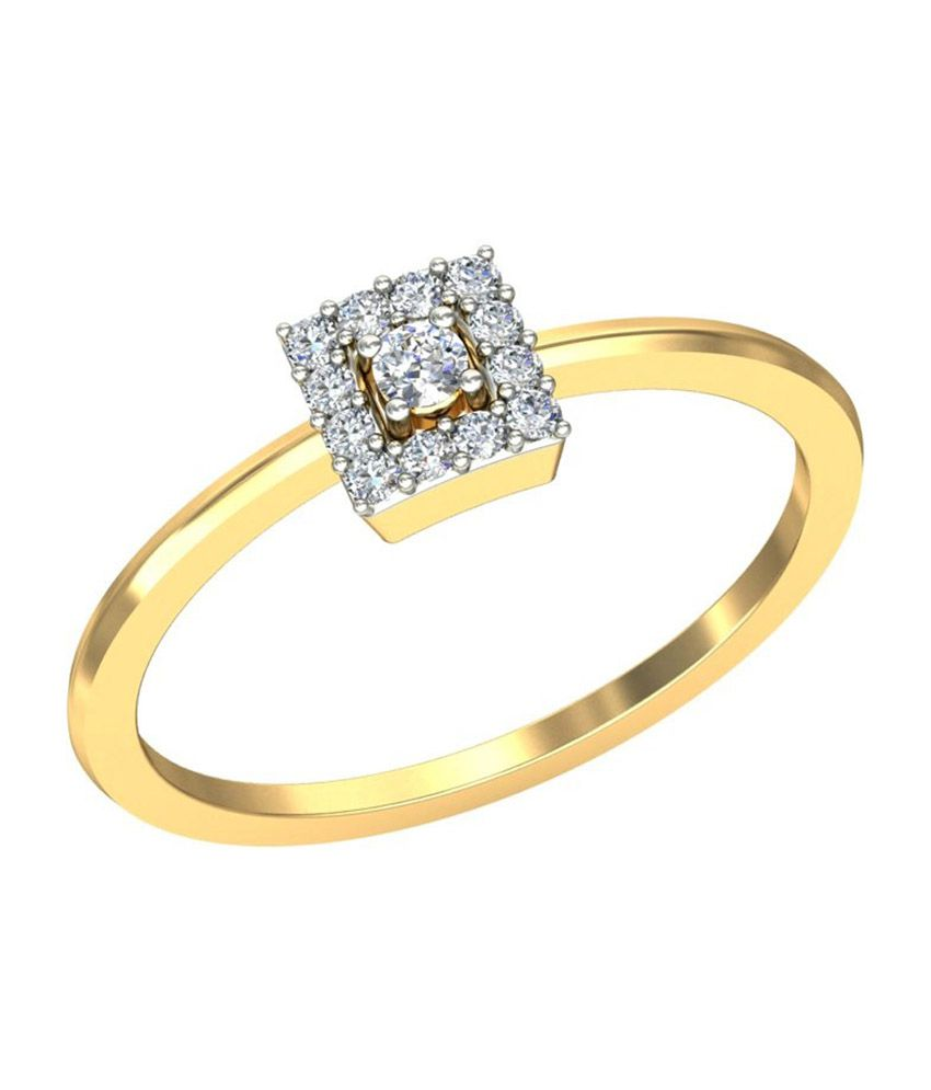 Jewelsnext 18kt Gold Contemporary Milaan Diamond Ring