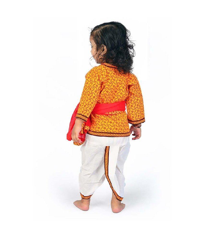 69fbf6c4f12 Little India Rajasthani Ethnic Boys Red Yellow Dhoti Angrakha - Buy ...