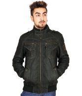 Crocks Club Black Denim Jackets For Men
