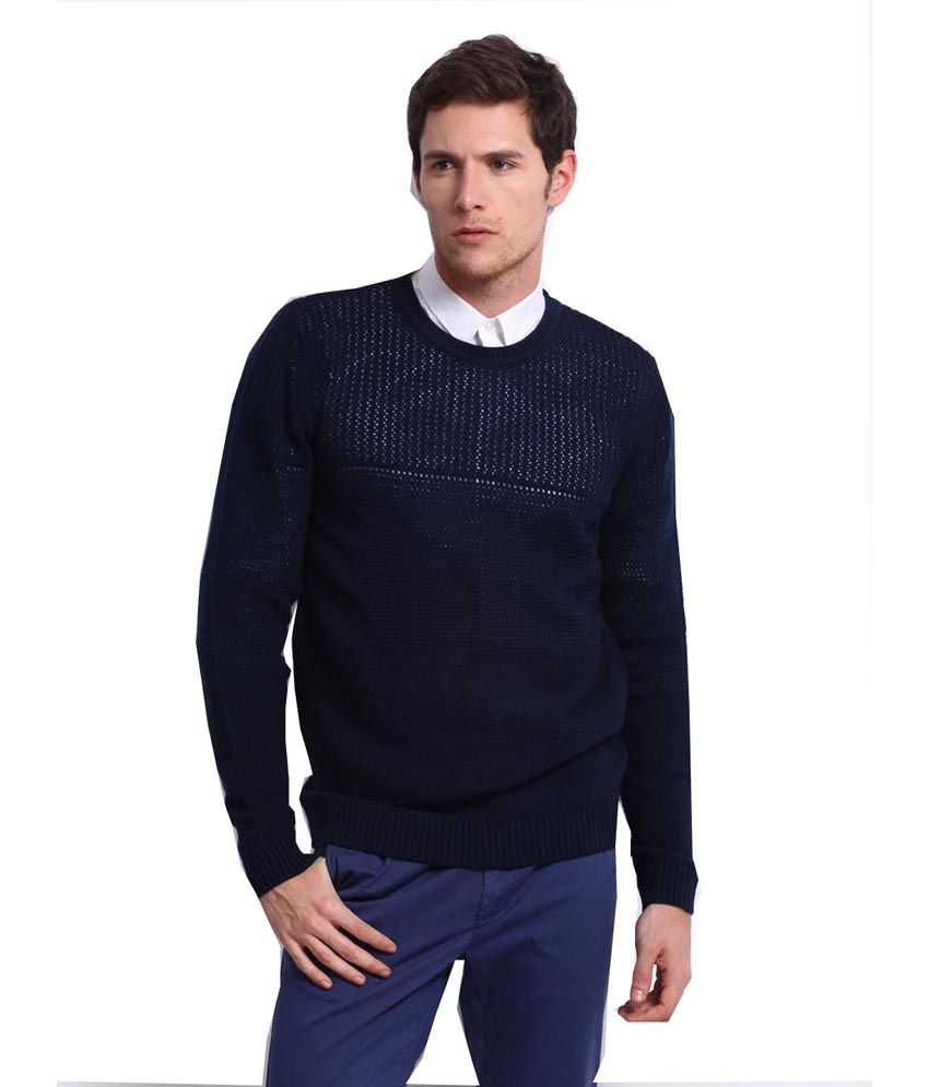 1357e111e4b3 Levi's Sweater Blue Pure Wool Sweaters For Men - Buy Levi's Sweater Blue  Pure Wool Sweaters For Men Online at Best Prices in India on Snapdeal