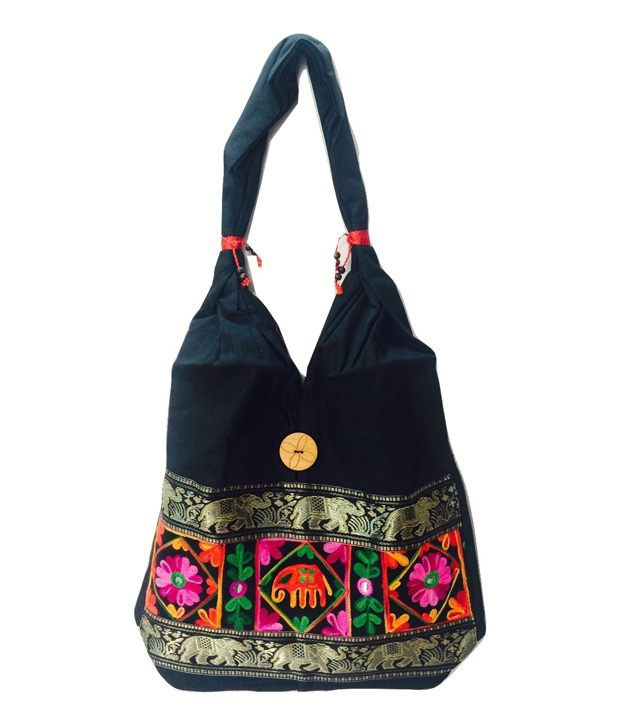 Idbc Handicraft Canvas Gujrati Multi Purpose Shoulder Bag