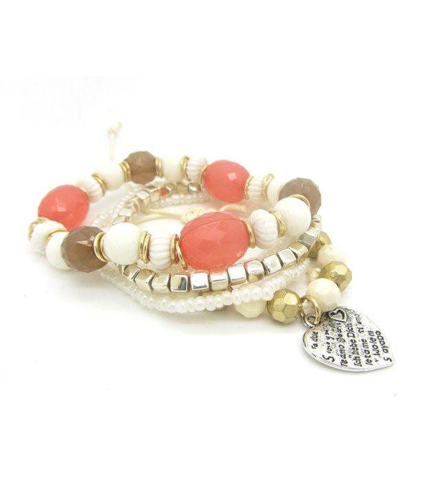 Fashion Cilver Fashion Multilayer White Beads Designer Bracelet