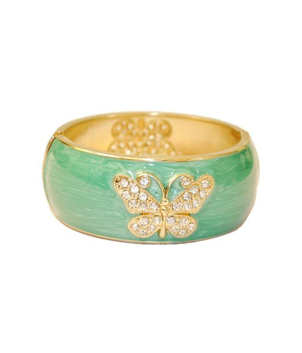 Women Trendz Green Golden Polish Kada