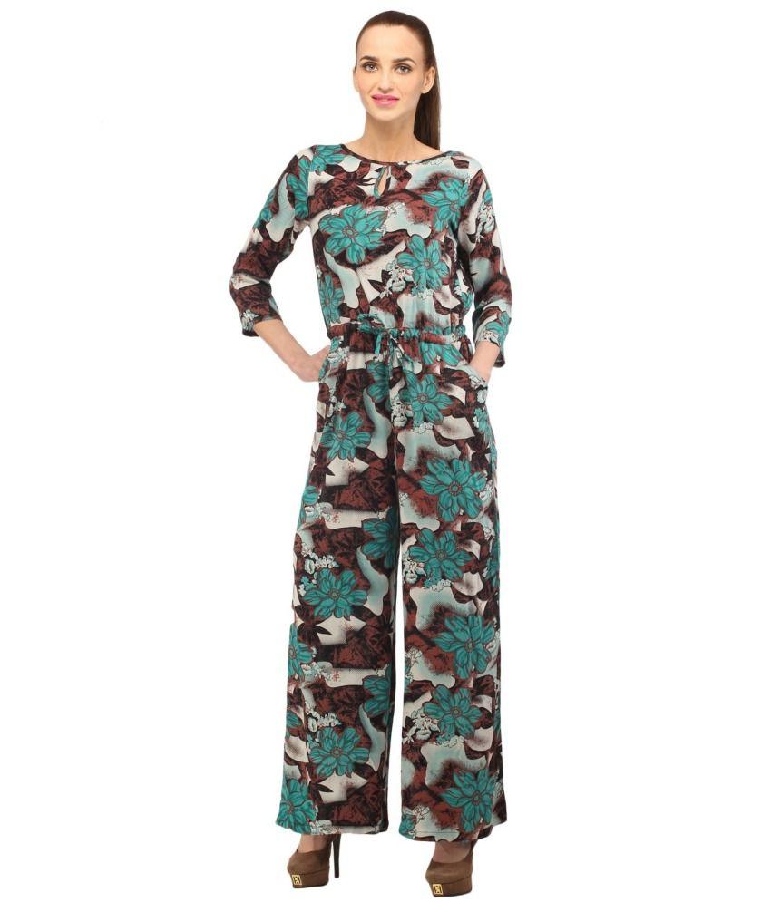 Lastest Jumpsuit  Cottinfab Printed Women39s Jumpsuit Online Shopping India