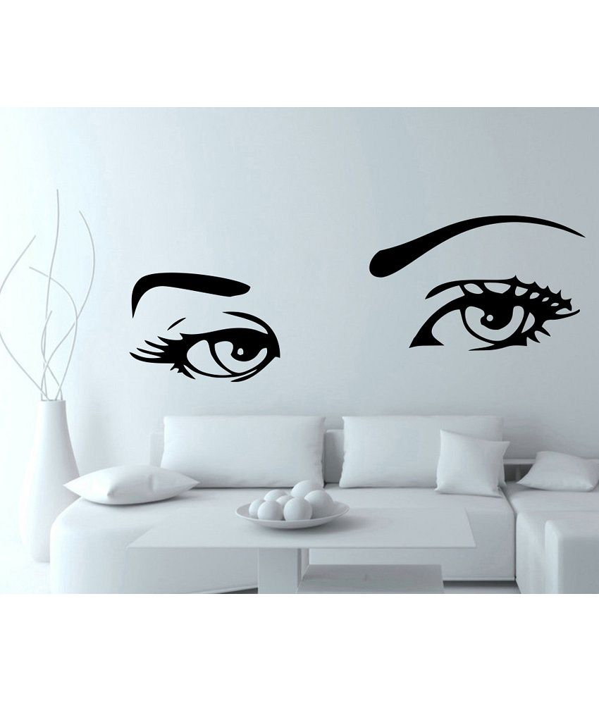 Snapdeal Wall Decor Items : Decor kafe creative eyes wall decal buy