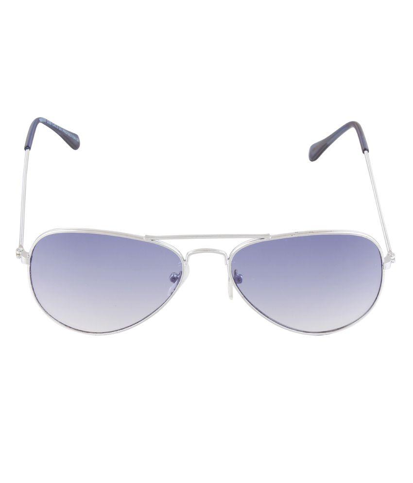 Tim Hawk Silver Metal Frame Aviator Shape Sunglasses For Men