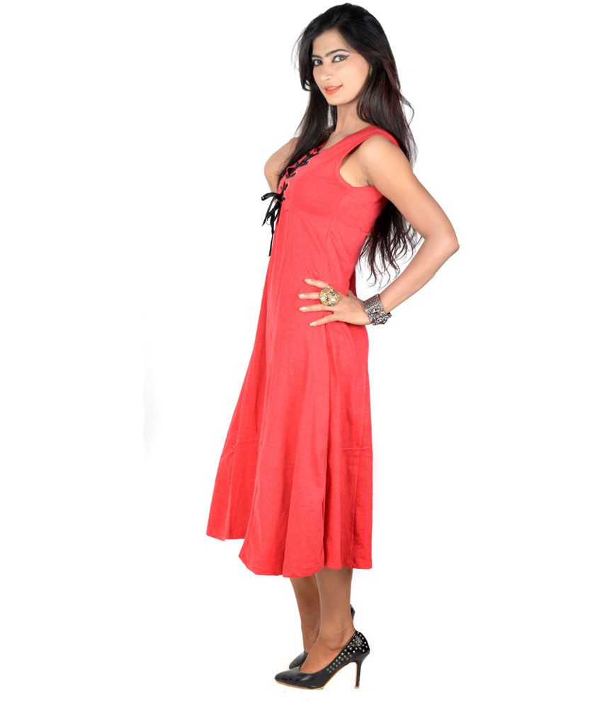 afb42b2fb9b700 Vivaa Red Solids Hosiery Round Neck Long Top for Women - Buy Vivaa Red  Solids Hosiery Round Neck Long Top for Women Online at Best Prices in India  on ...