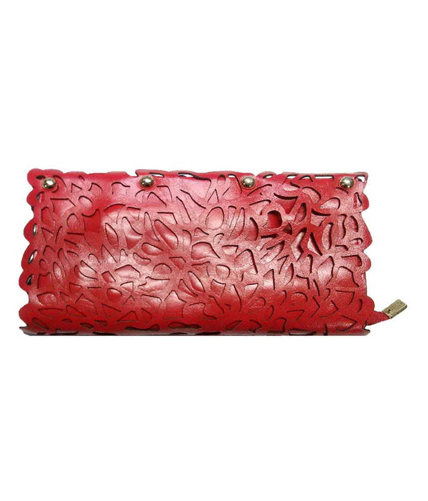 Longhorns Red 0125 Non Leather Clutch