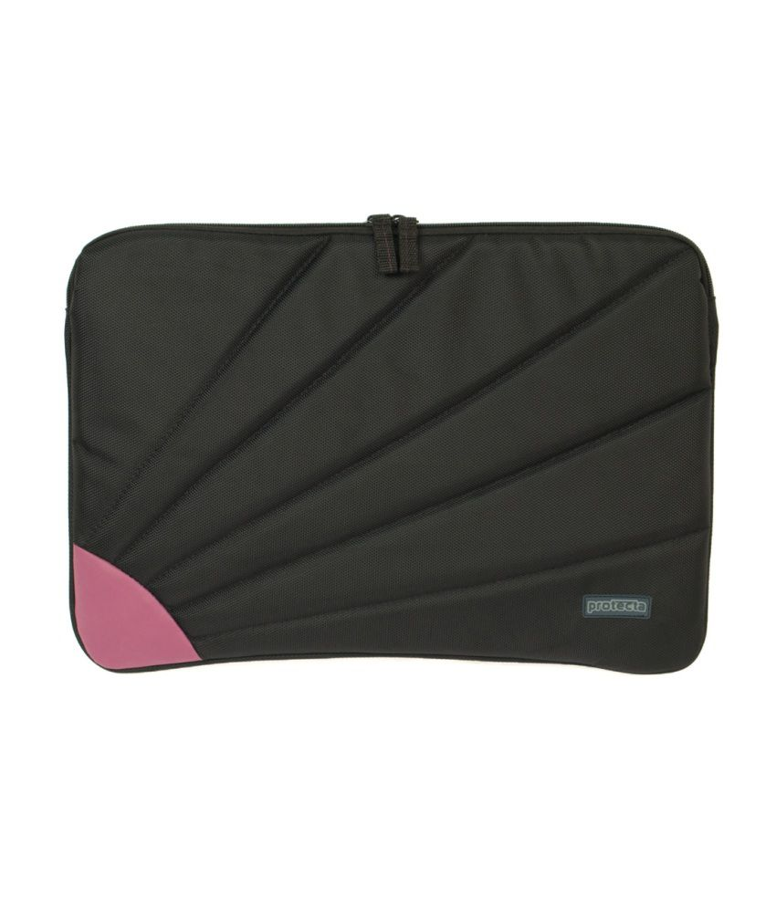 Protecta Rays Laptop Sleeve For Laptops Up To 14.1 Inches (black & Mauve)