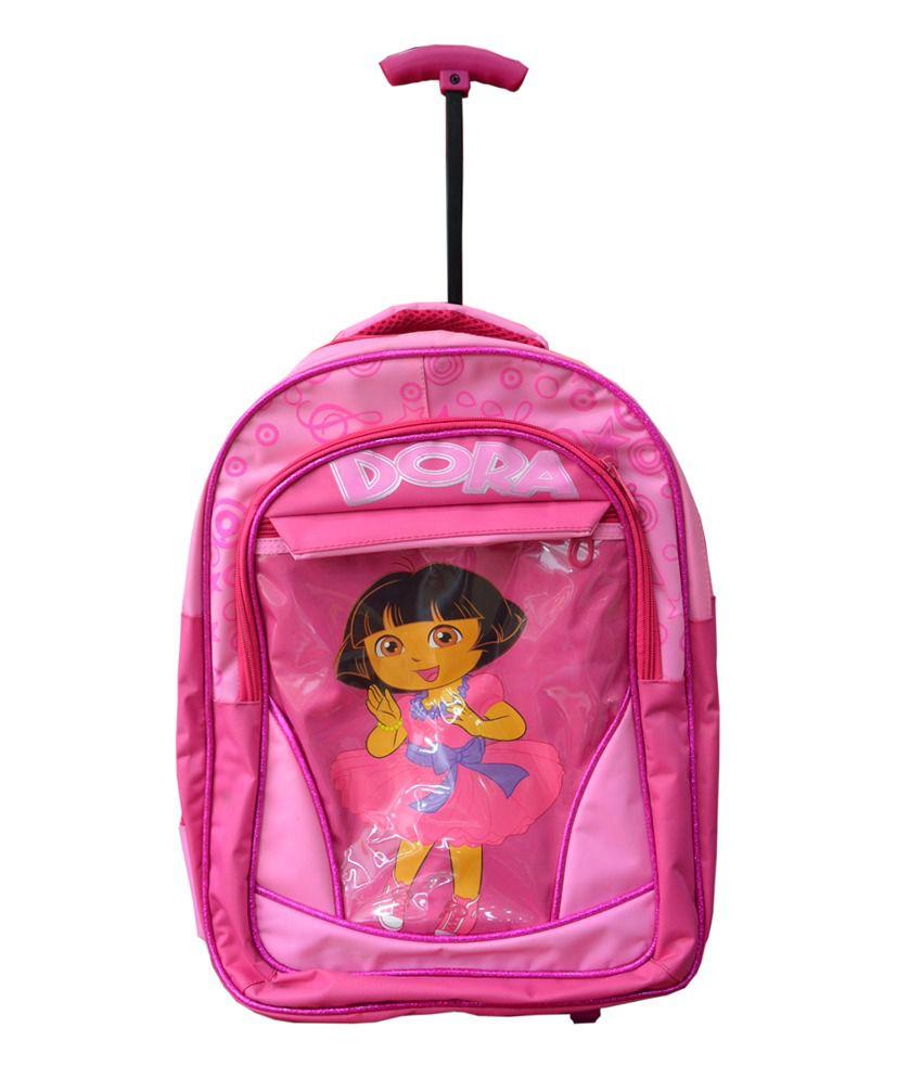 School bag for girl -  Uniasia Kids Trolley School Bag For Girl