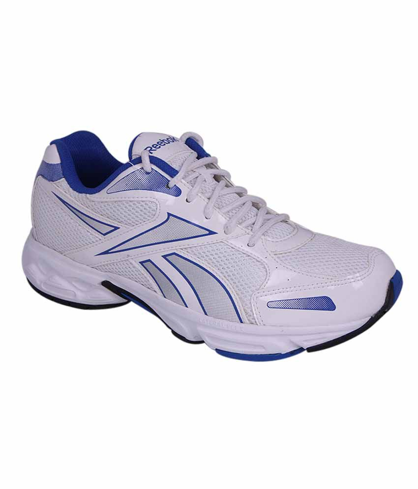 reebok white and blue colour running shoes for men buy