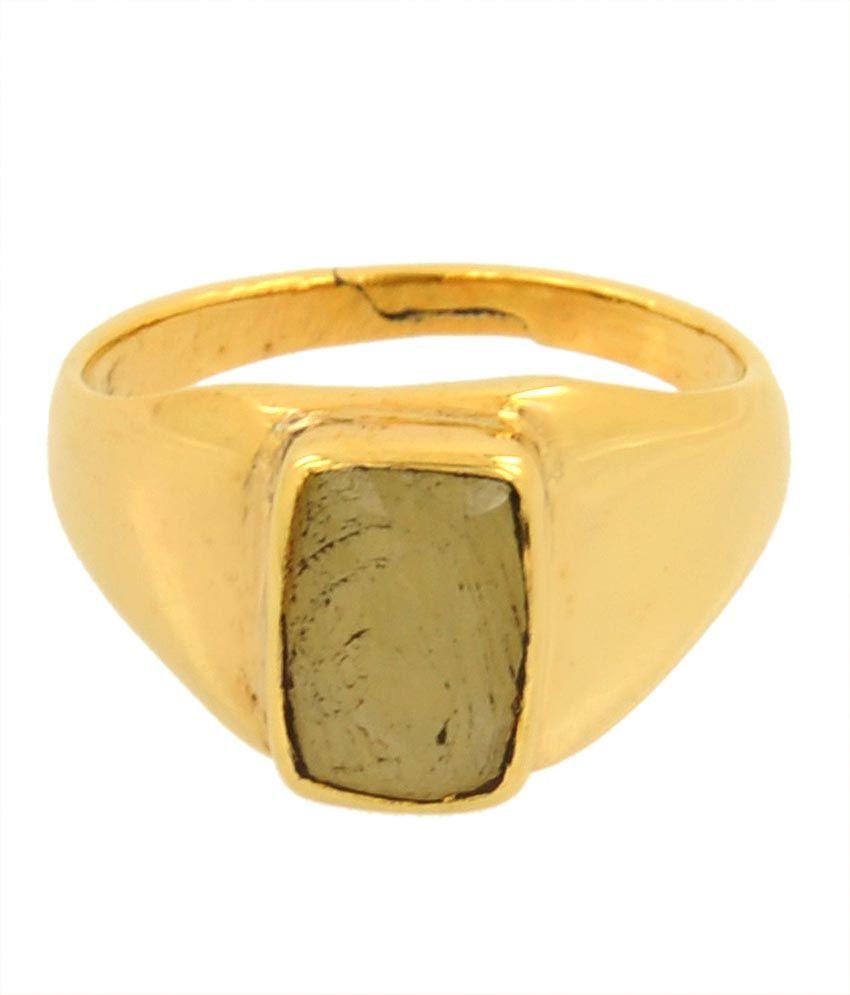 Avaatar 5.25 Ratti Pukhraj Yellow Sapphire Astrological Panchdhatu Ring