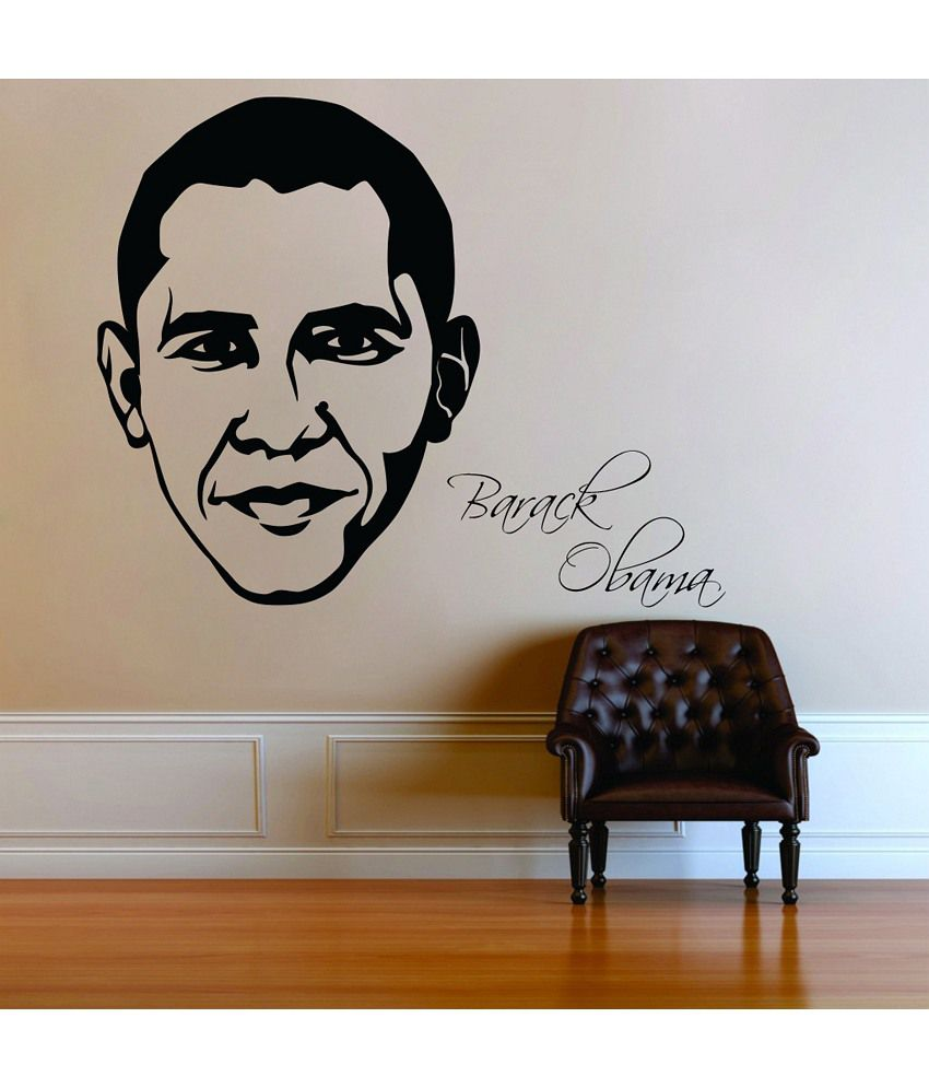 Snapdeal Wall Decor Items : Decor kafe barack obama wall decal buy