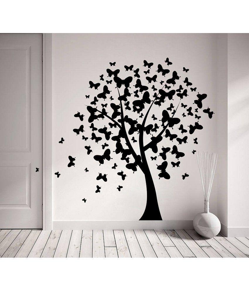 Decor Kafe Decor Kafe Butterfly On Tree Wall Decal Medium Best Price