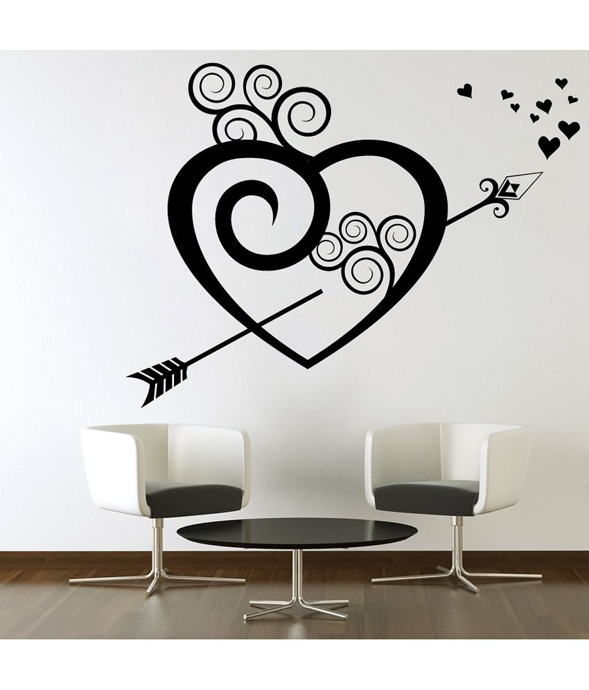 Snapdeal Wall Decor Items : Decor kafe floral breaking heart wall decal