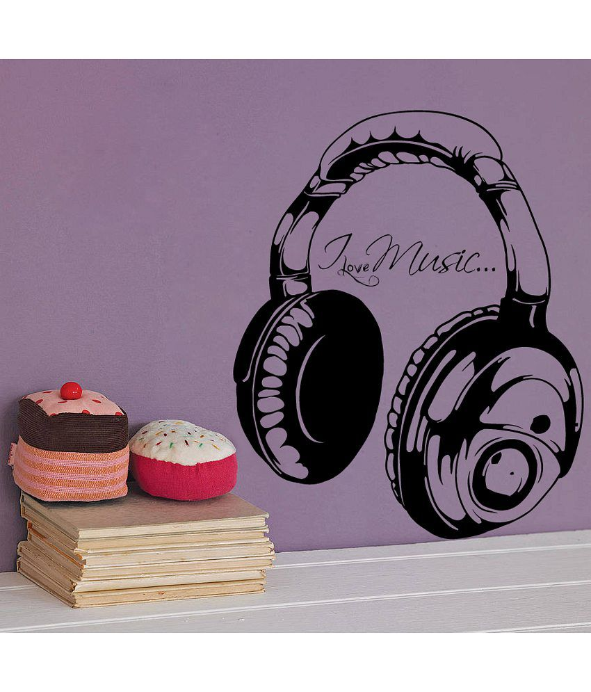 Decor kafe love music wall decal buy decor kafe love for Snapdeal products home kitchen decorations