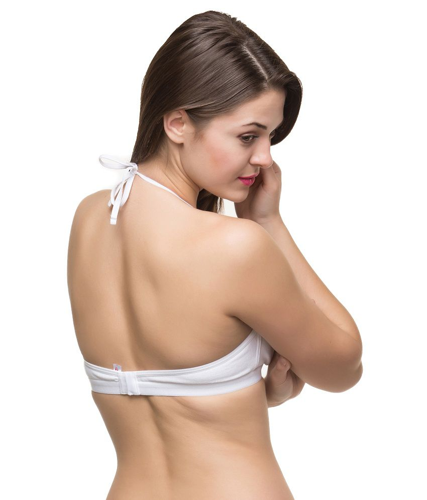 de9e339674 Buy Docare White Non-padded Halter Neck Bra Online at Best Prices in ...