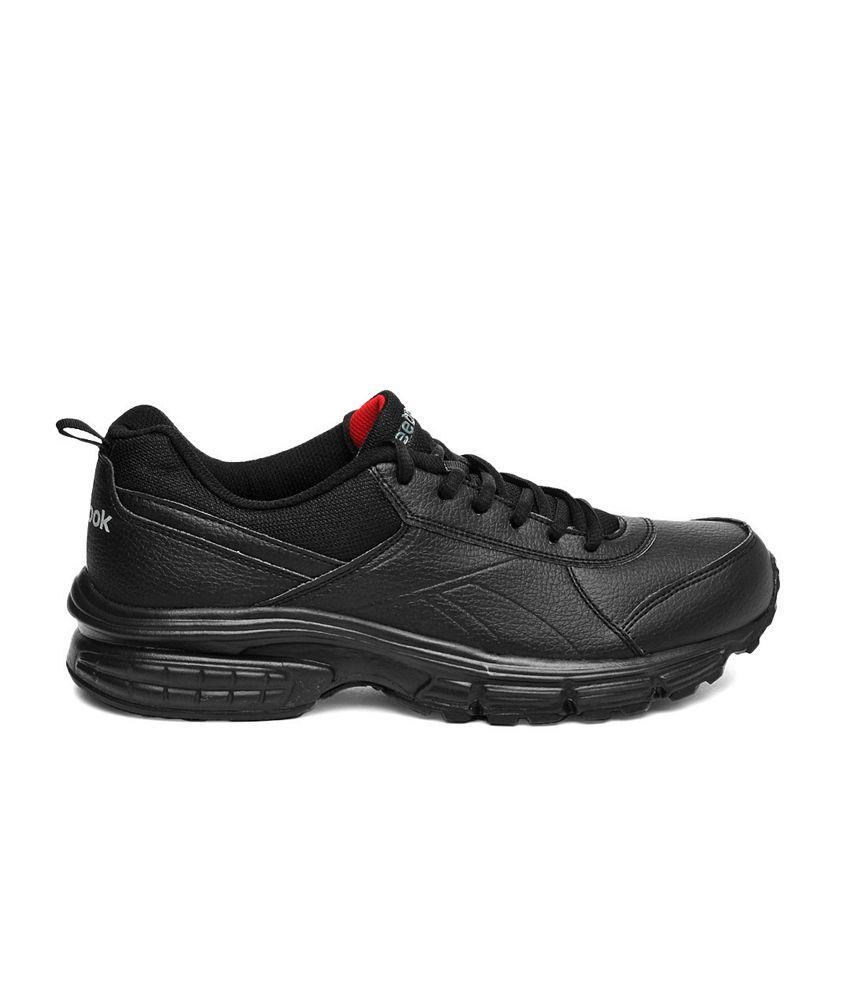Reebok Black Synthetic Leather Sport Shoes For Men - Buy Reebok ... eff43defd