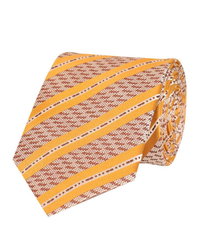 Tiekart Brown Silk Men's Broad Necktie