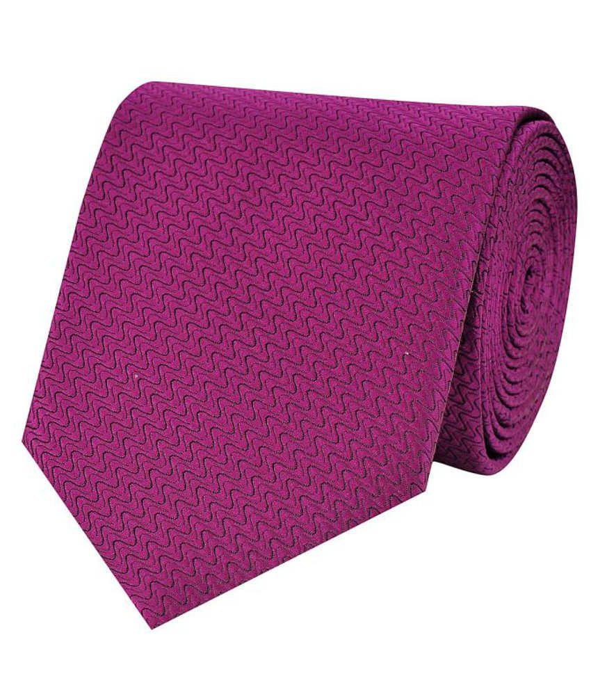 Tiekart Purple Micro Fiber Men's Broad Necktie