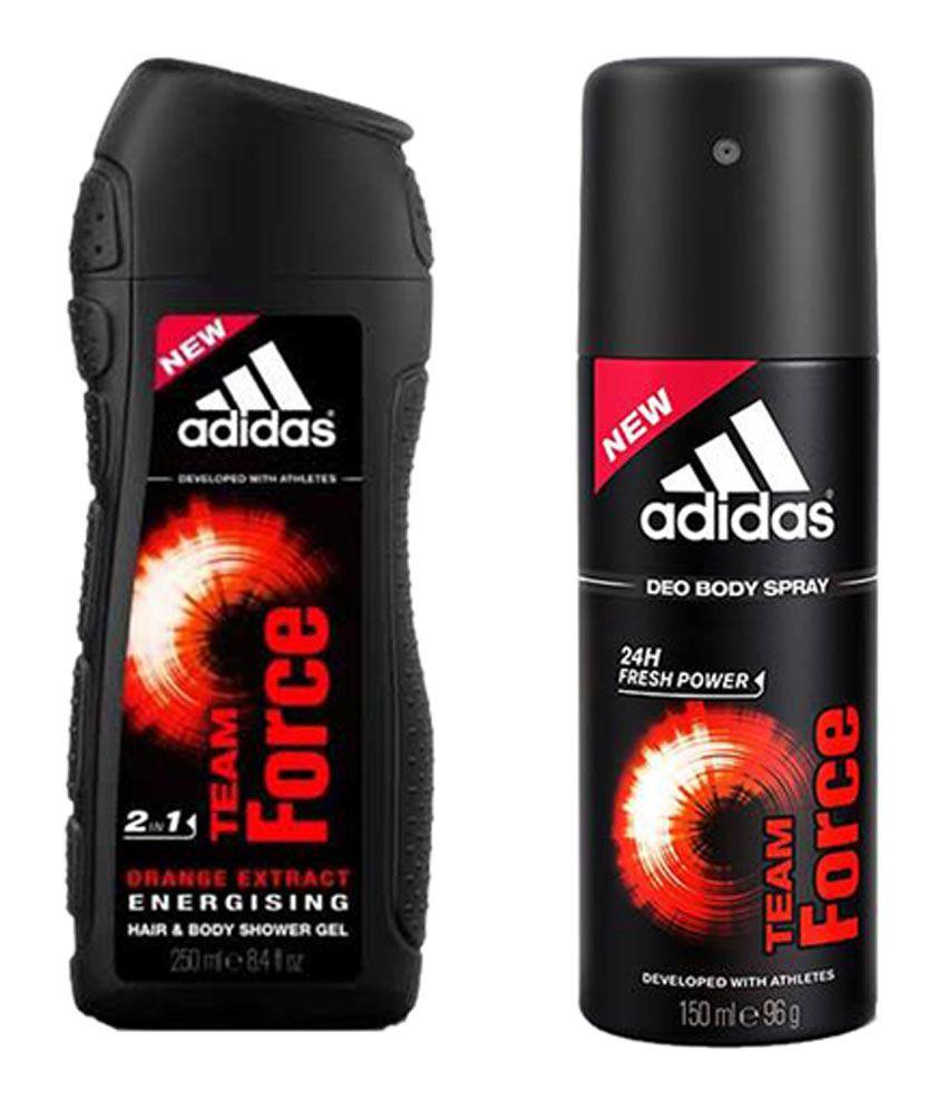 Adidas Team Force 150ml- 1 Shower Gel 250ml & 1 Deodorants 150ml(Set of 3) For Men