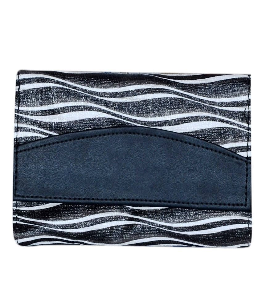 Home Zaara Designer Black Fashionable Premium Quality Unique Wallet For Women